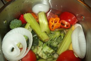 Making Veggie Broth